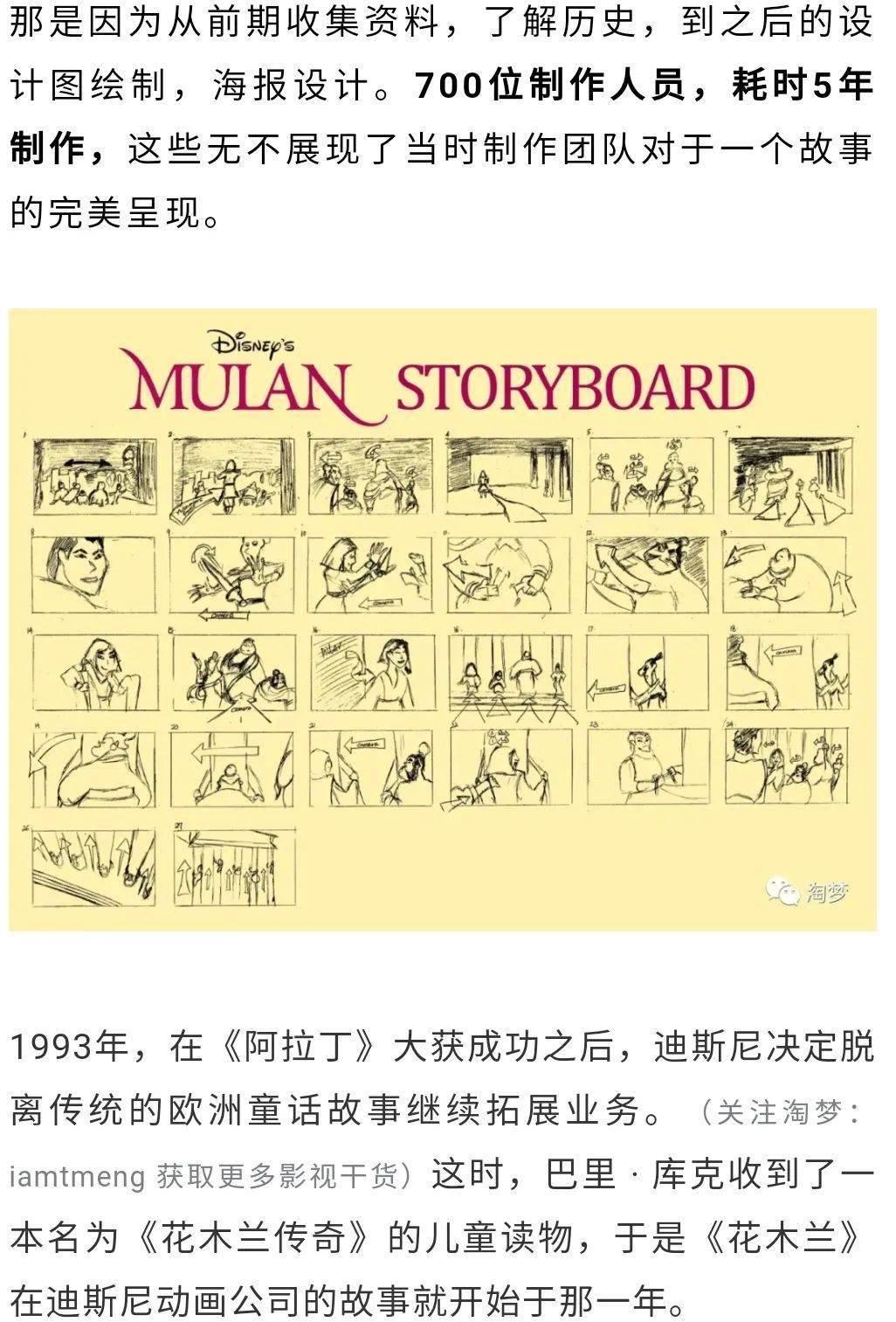 《花木兰》幕后故事板视点设计图角色设