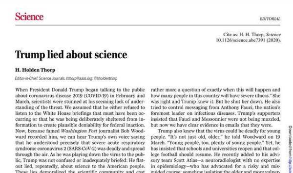 """海外网评:这可能是美国""""科学政策史上最耻辱时刻"""""""