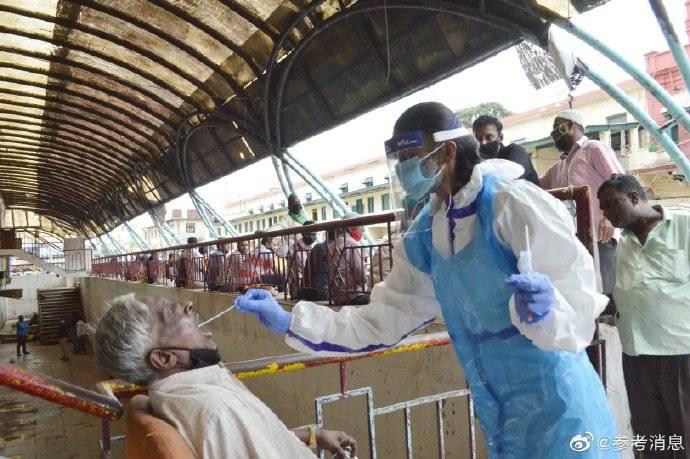 印度新增新冠肺炎确诊病例97894例 又创新高