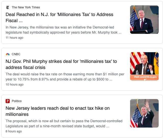 """""""富人税""""来了 !美国这个州向百万富翁""""动刀"""""""