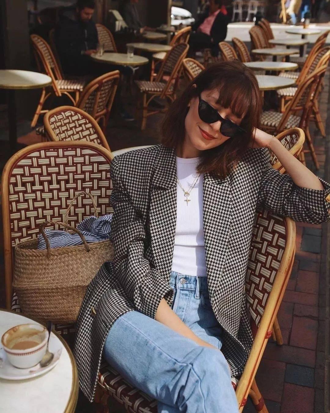 时髦精首选的搭配:西装+牛仔裤!