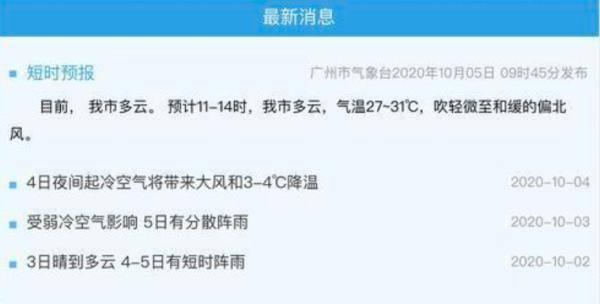 """什么?冷空气影响下的广州,""""升温已经安排好了""""?                                   图1"""