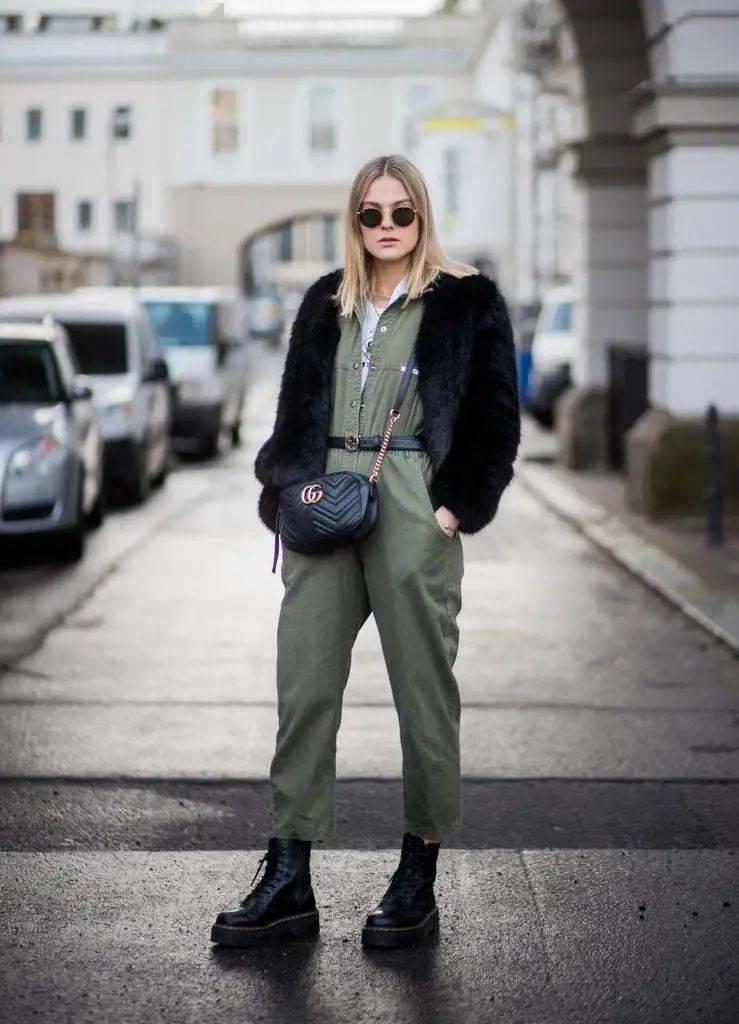 马丁靴+裙子,马丁靴+工装裤……又酷又撩,时髦炸了!     第49张