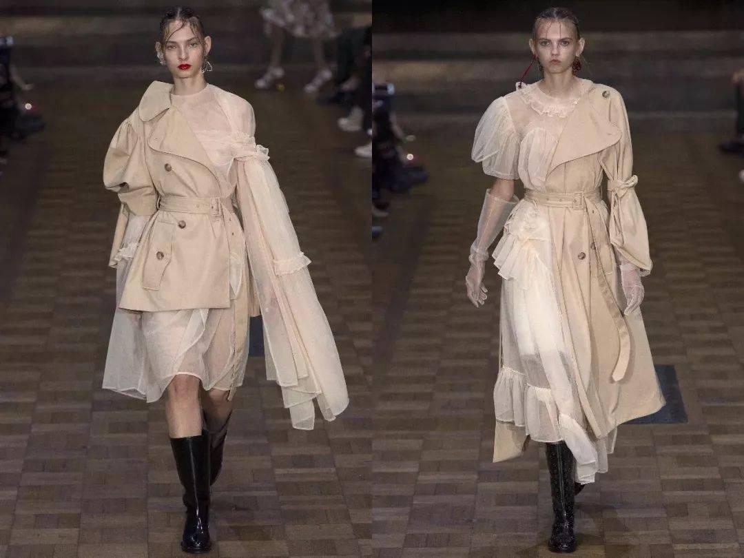 风衣+裙子,时髦整个初冬!