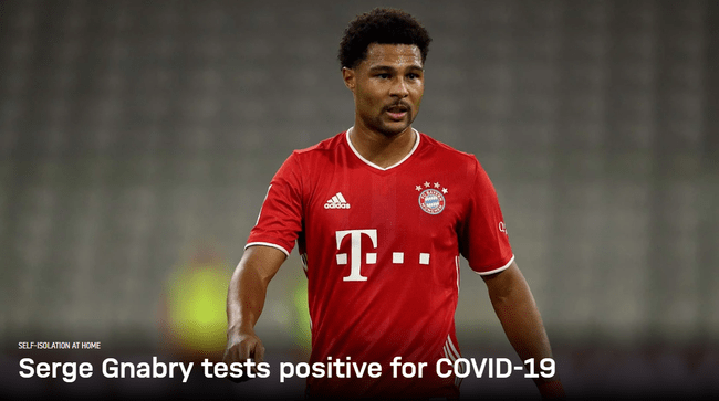 拜仁宣告格纳布里新冠检测阳性周二还加入了练习