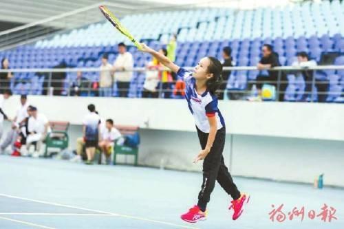 仓山小将席卷3枚网球金牌