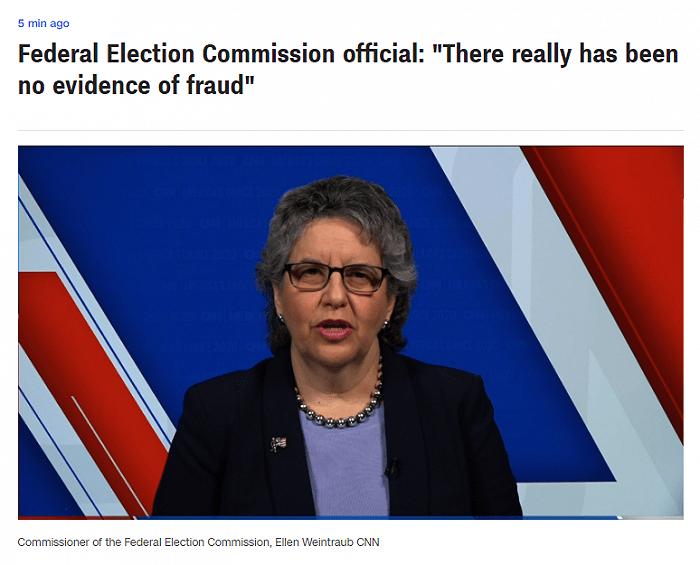 美联邦选举委员会主席:没有任何证据表明大选存在舞弊行为
