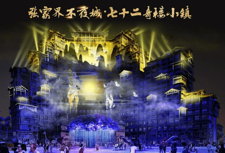 张家界七十二奇楼文旅小镇征集灯光演绎秀创意方案,最高奖励10万元