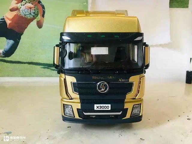 坐在陕西汽车三大部件上,德龙X3000卡车模型评测出口版,金色的画真的很美