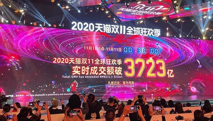 快看 | 2020天猫双11成交额破3723亿