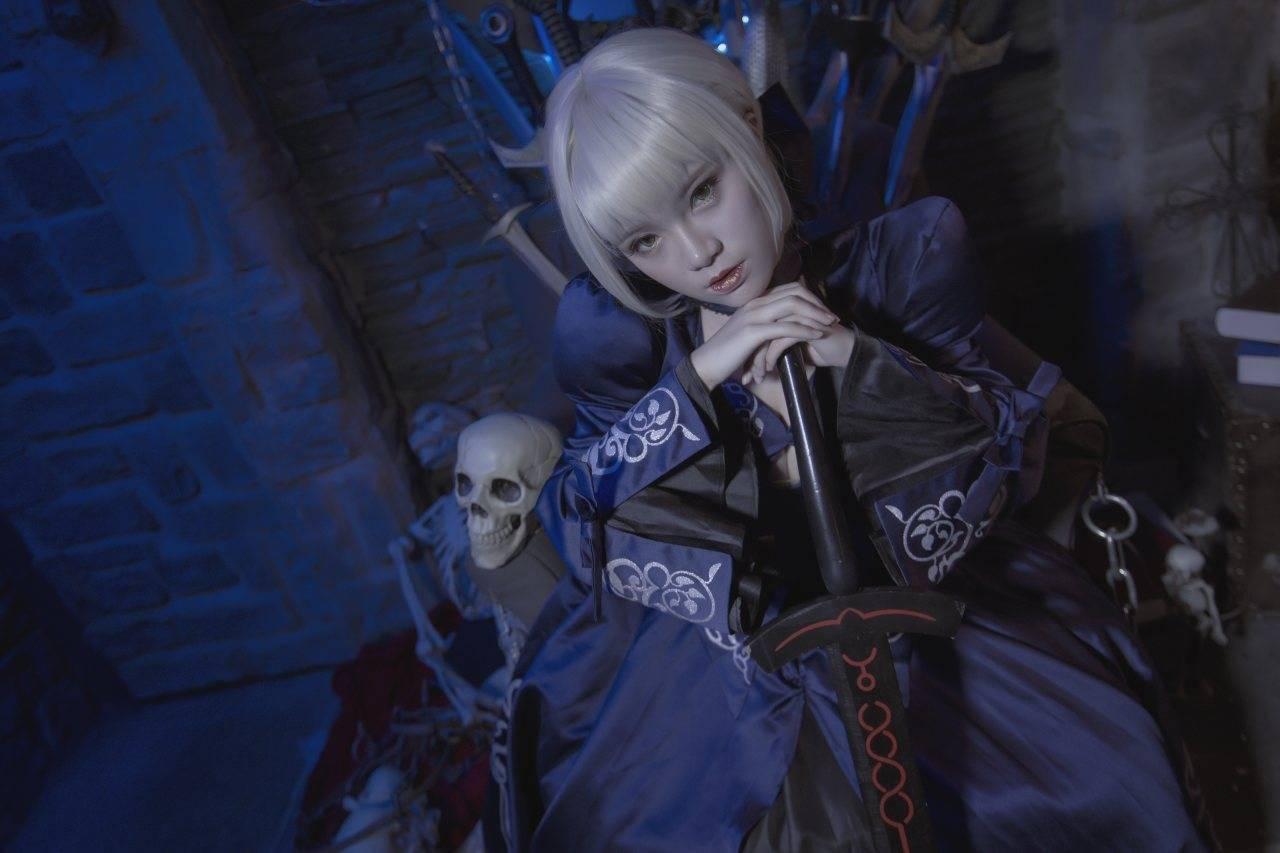 《Fate系列》Saber Lily 蓝百合礼服版COS