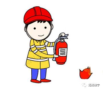 使用灭火器,消防安全简笔画 环保安全简笔画