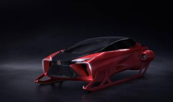 雷克萨斯发布圣诞雪橇车:外形科幻 全驯鹿驱动