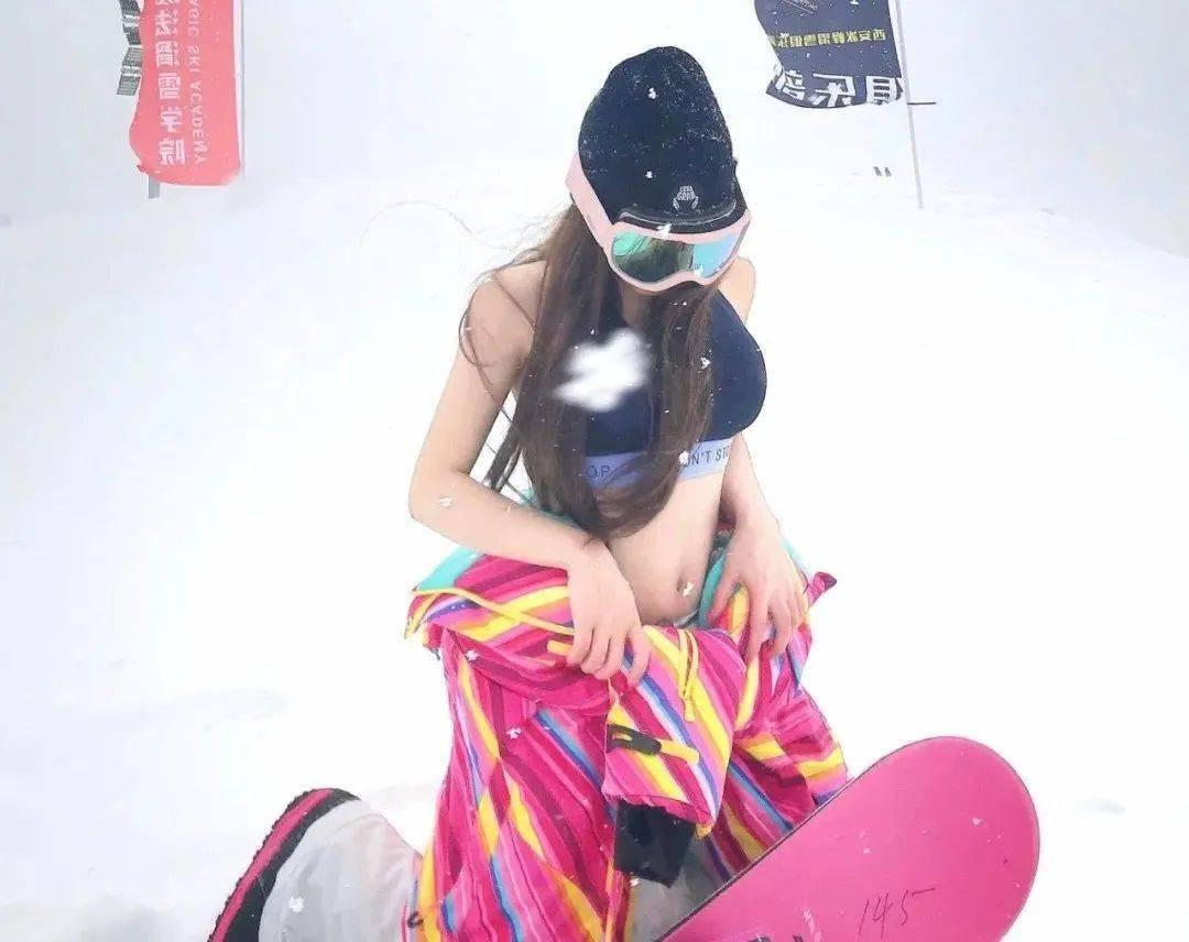 穿性感套装去滑雪的名媛们,真的不怕冷吗??