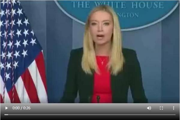 暴乱后白宫首个发布会仅2分钟,发言人不答提问转身就走