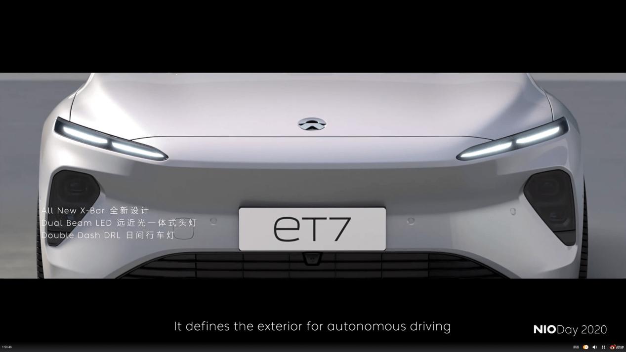 威来ET7轿车发布——首款搭载激光雷达和固态电池的自动驾驶电动智能车