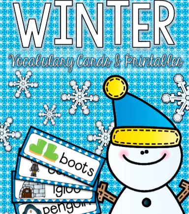 限时分享⇩200多页冬天主题学习手册,单词卡、游戏等