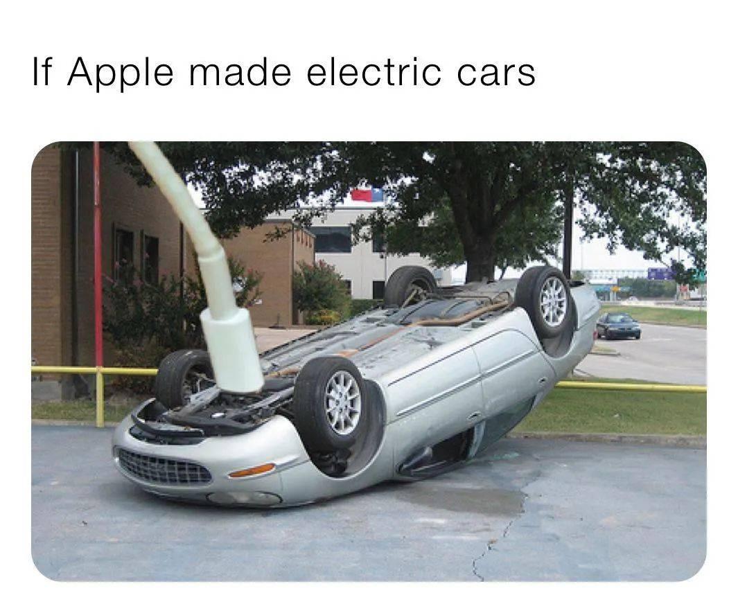 如何优雅地给苹果汽车充电?网友们的这波设计把我秀晕了!