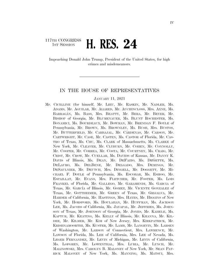 关于罢免特朗普,一重要决议通过!