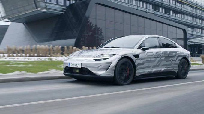 索尼在国际消费电子展上披露了制造汽车的最新进展,视觉系统已经开始路试