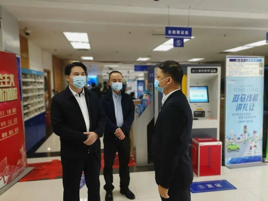 韦江部署自治区政务服务中心疫情防控工作