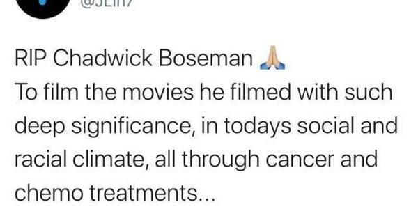 再见,瓦坎达之主:《黑豹》男演员博斯曼因病逝世