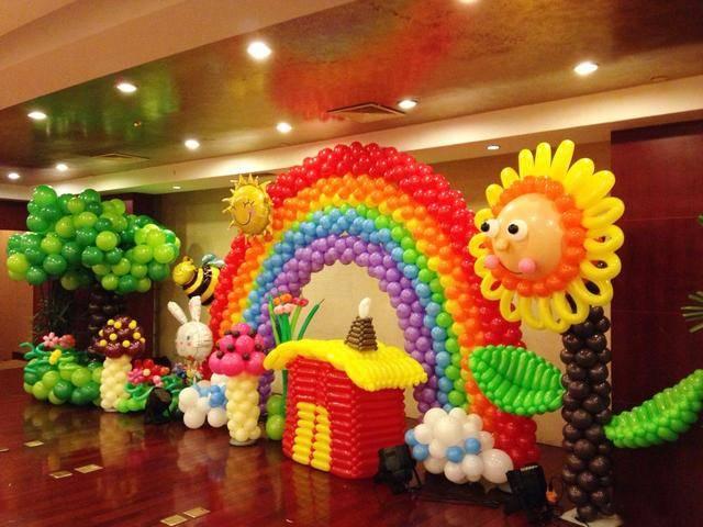 寶寶過周歲怎么布置氣球?寶寶生日宴氣球裝飾教程