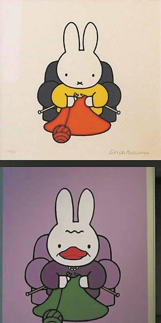 """""""鸭兔""""侵权""""米菲兔""""? 广美教授作品引发热议"""