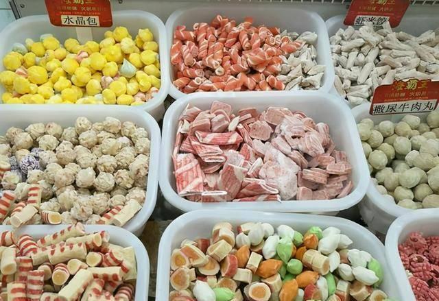 """超市的""""火锅肉丸子""""真便宜,一斤只要7块钱,到"""