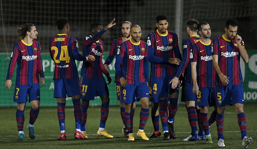 巴塞罗那客场加时2-0筛选西乙B球队科内利亚
