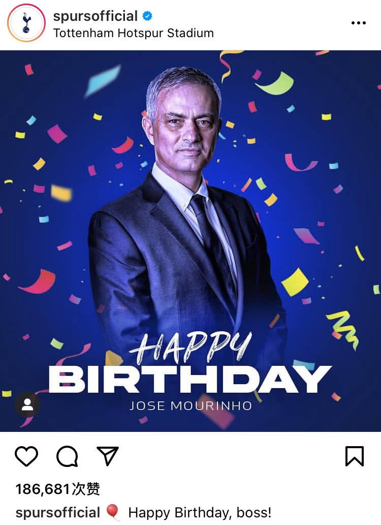 穆里尼奥迎来58岁生日 各方送祝福为鸟叔庆生