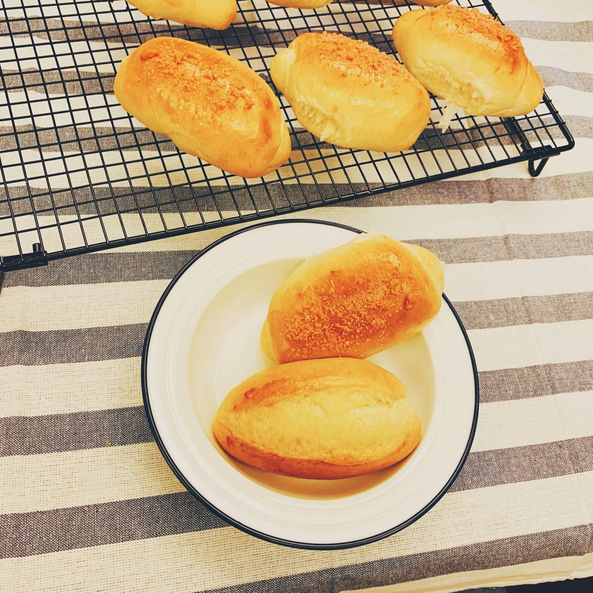 快手豆浆面包的做法+配方,又软又能拉丝,好吃