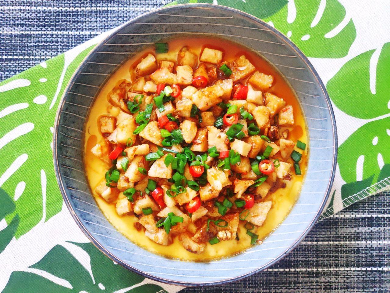 【虾丸蛋羹】的做法+配方,嫩滑可口,美味又超级好吃的!