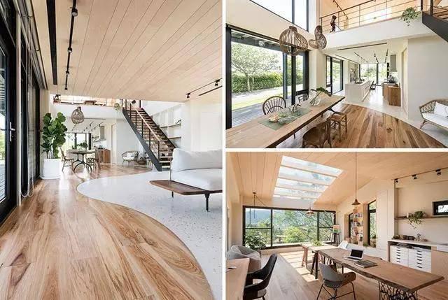 120平原木风装修,阁楼只是开了个洞,电视、沙发都可省略了!