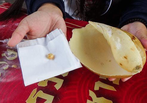 女子花15元买海螺尝鲜一口下去咬到硬物 吐出一看惊喜不已引关注