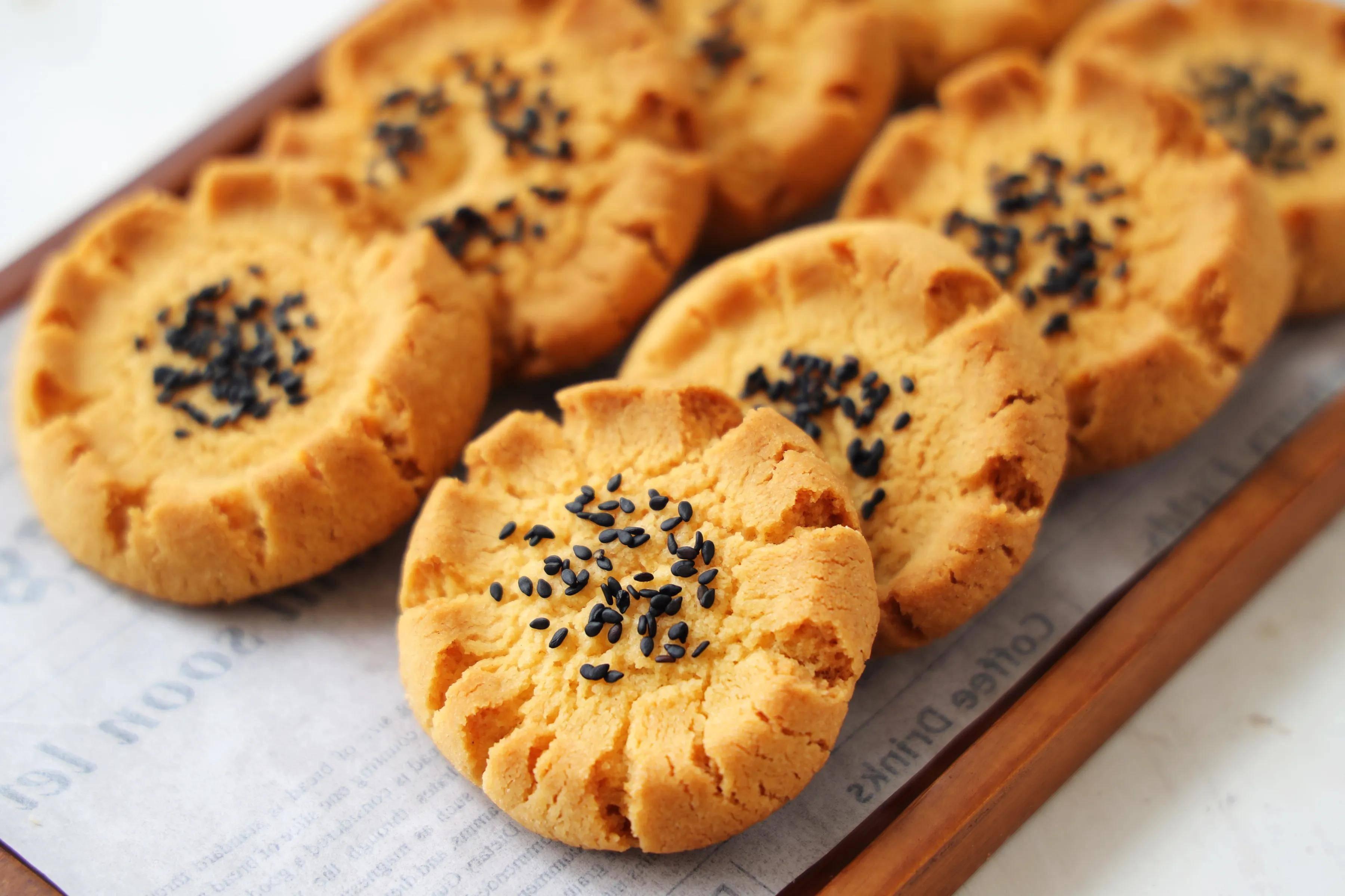 桃酥别再买了,教你正宗的配方,又酥又脆,比买的健康又好吃!