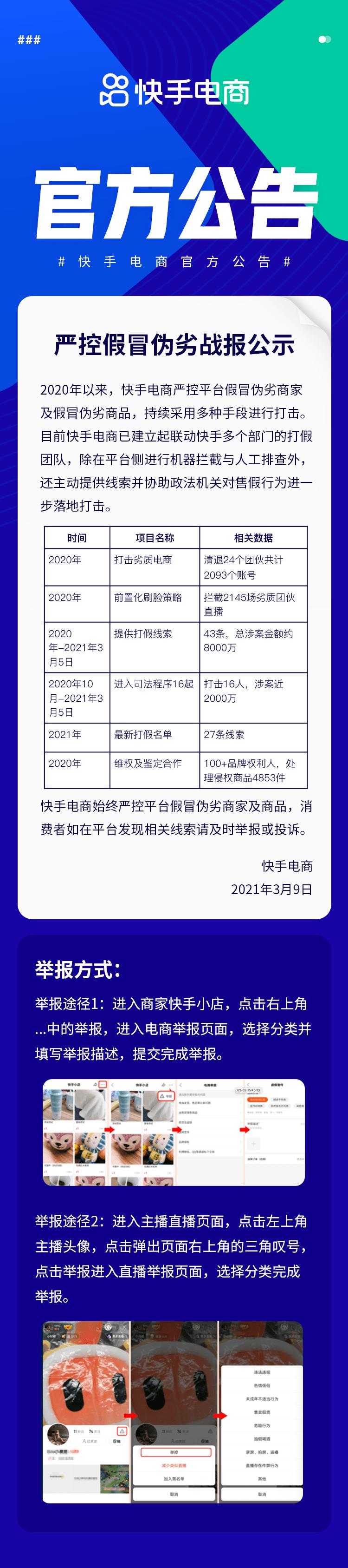 """严打假冒伪劣快手电商列出2021""""追杀""""黑名单"""