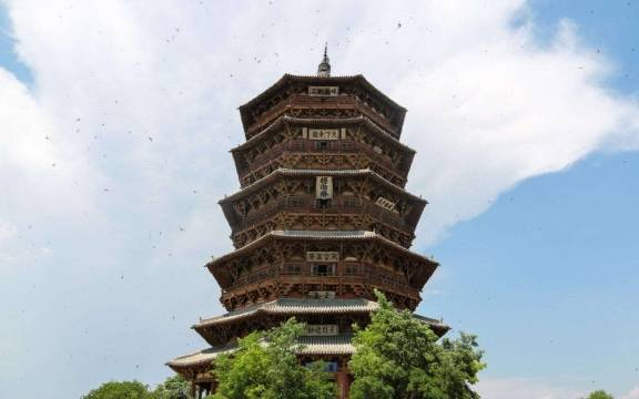 世界最高的这座木塔就在我国,一根钉子都没用,和巴黎铁塔齐名!