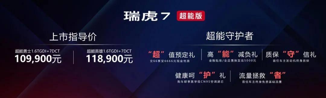 """关爱年轻人不弄""""虚的""""瑞虎7超能版10.99万起-海博体育app"""