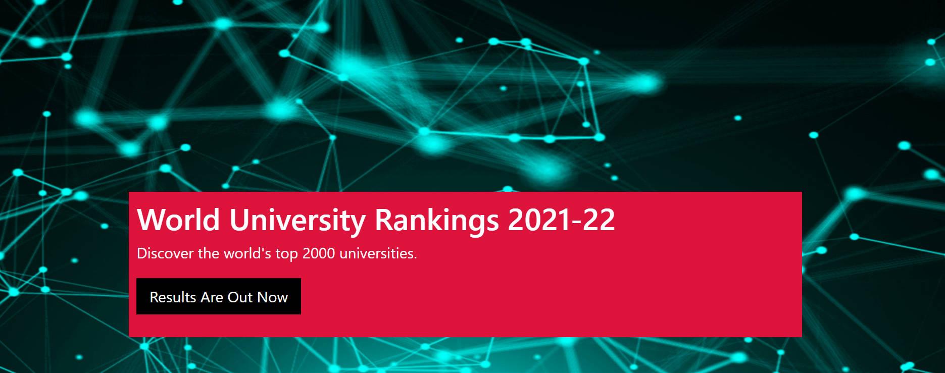 2021CWUR世界大学排名发布!