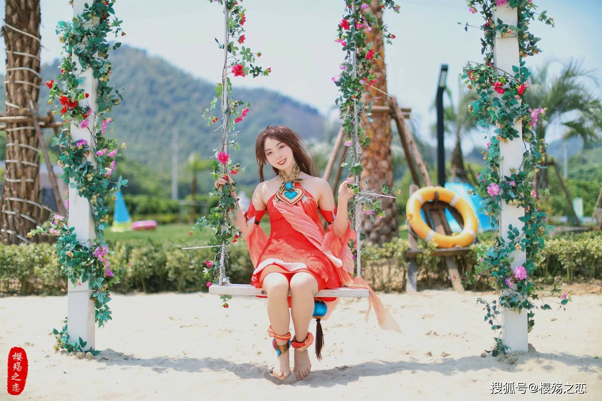 """原创             安吉颜值超高的游乐园,拥有阳光沙滩,游客直呼""""穿越""""到了三亚"""