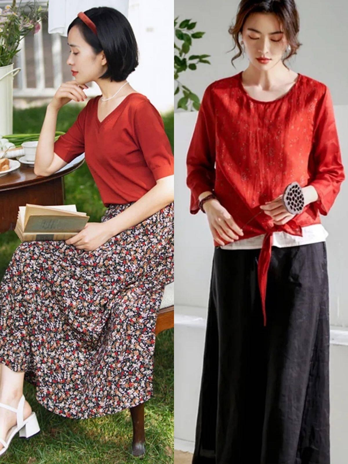 40岁的中年女人初夏半裙流行这样穿,40岁的中年女人初夏半裙怎么穿才好看?