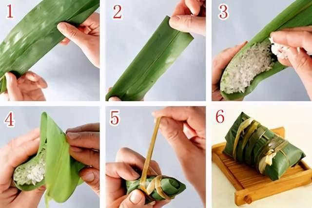 端午节快到了!教你几种包粽子的方法,圆的、扁的、四角的、锥形的  第6张