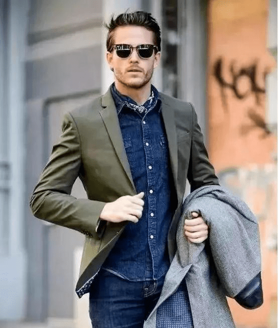 西装搭配牛仔裤 教你穿出时尚型男感~ 爸爸 第4张