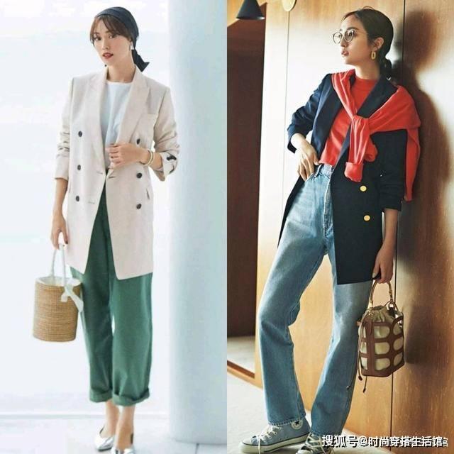 """最近火了一种外套:叫""""西装外套"""",时髦显高,照着穿就对了"""