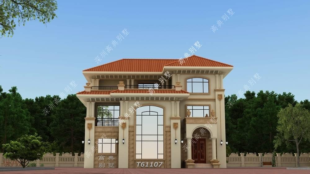 欧式三层别墅,外观高贵不失雍华,将建筑的美感体现得淋漓尽致。