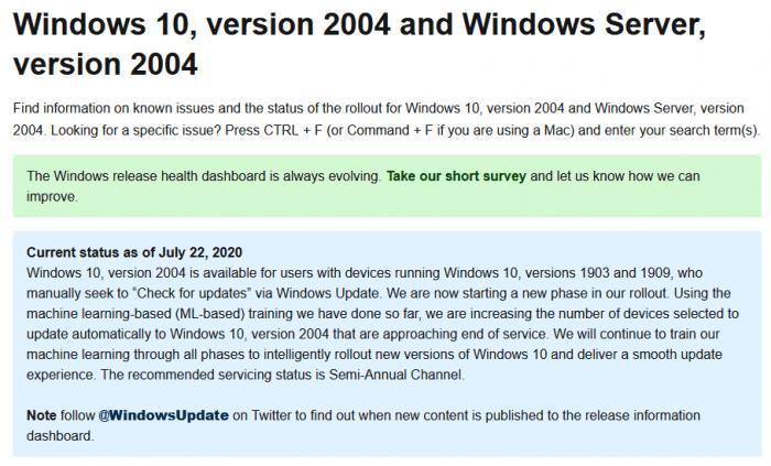 微软将Win10 v2004的推送范围扩大到即将结束服务的PC上的照片 - 2