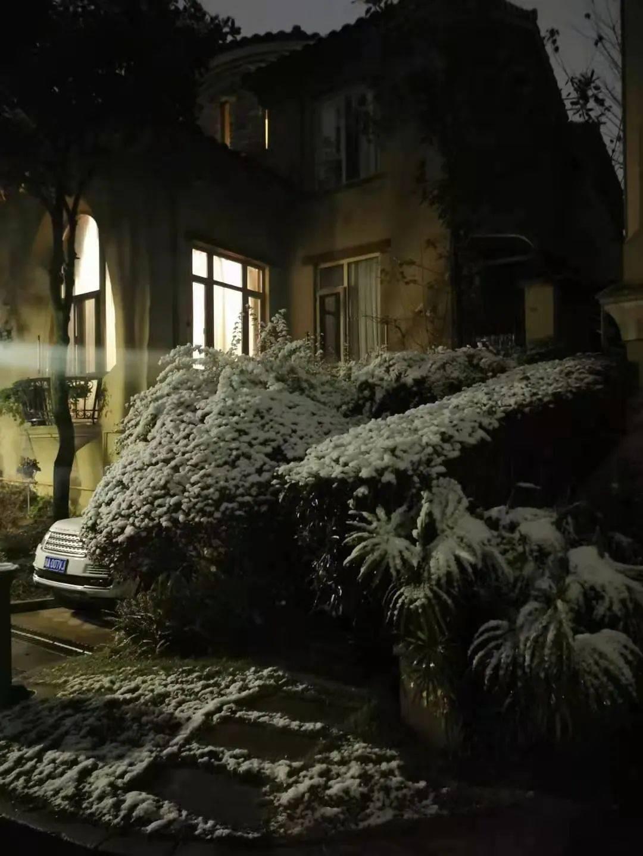 初雪过后,看看谁家小区雪景更美