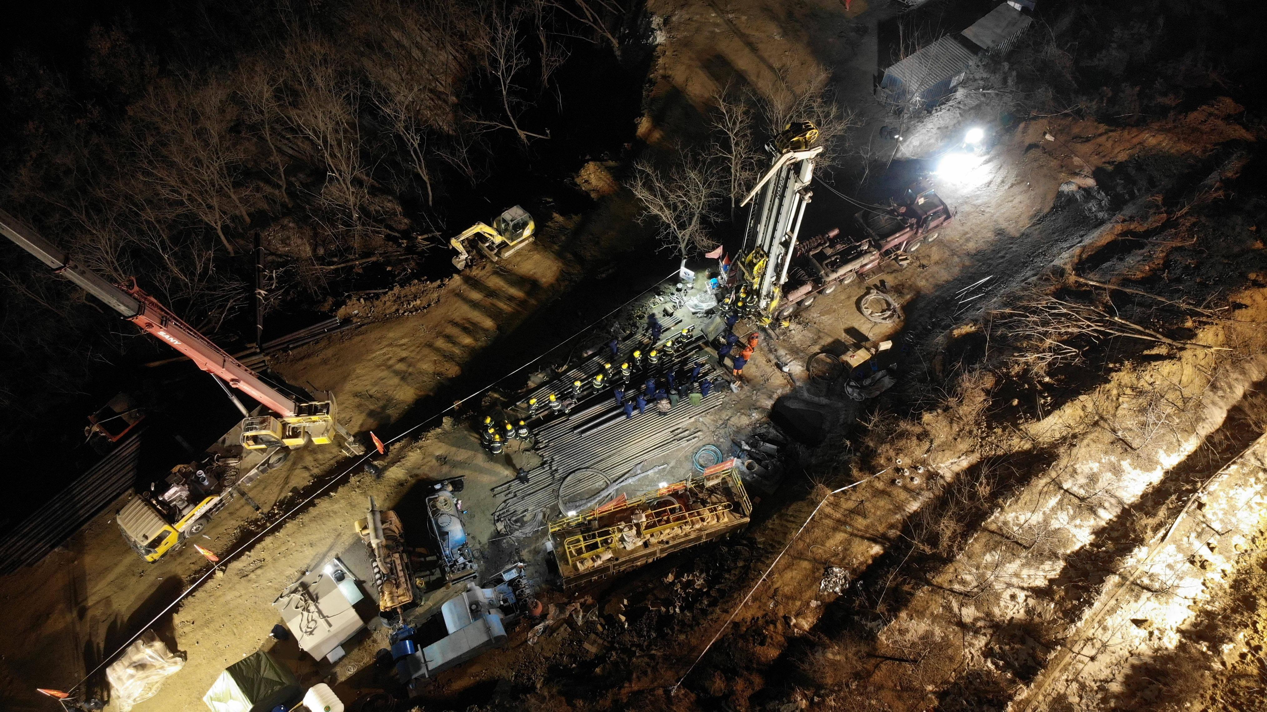 山东栖霞笏山金矿爆炸事故救援现场已与被困人员取得联系