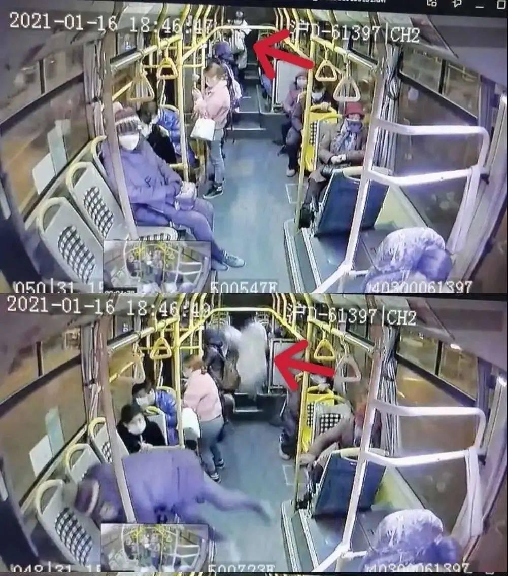 视频揪心!公交紧急刹车,乘客被甩出2米远后不治身亡